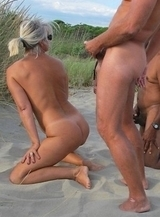relaxed nudists gets fucked at beach among men