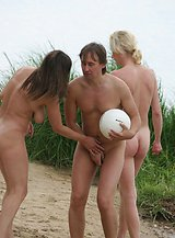 Swingers have naked fun at the nude beach.